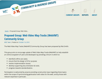 Proposed W3C Community Group